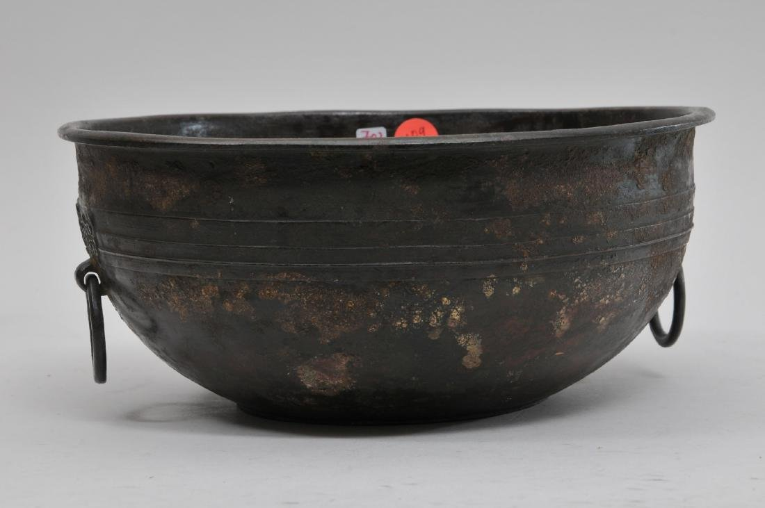 Bronze bowl. China. Han period. (2nd BC- 2nd c AD). Tao - 4