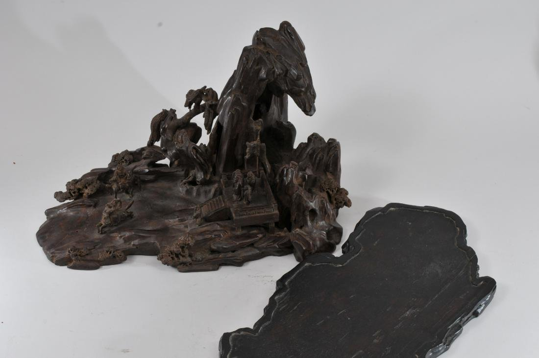 Agarwood carving. China. 19th century. Very large - 10