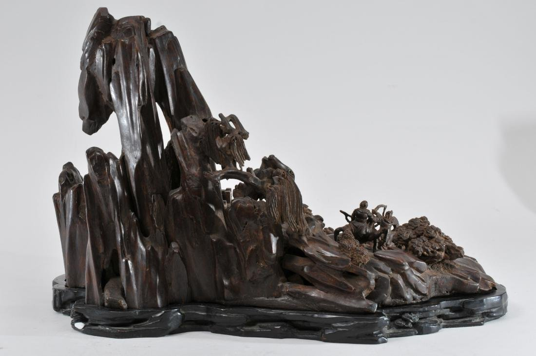 Agarwood carving. China. 19th century. Very large - 7