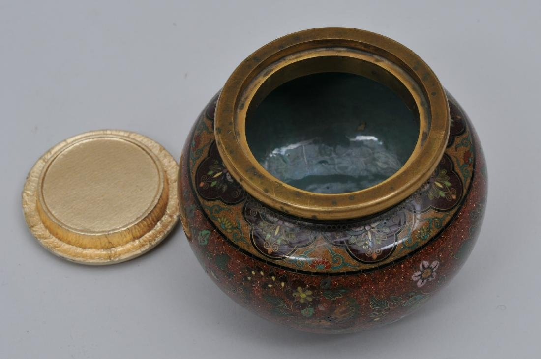 Cloisonné jar. Japan. Meiji period. (1868-1912). - 4