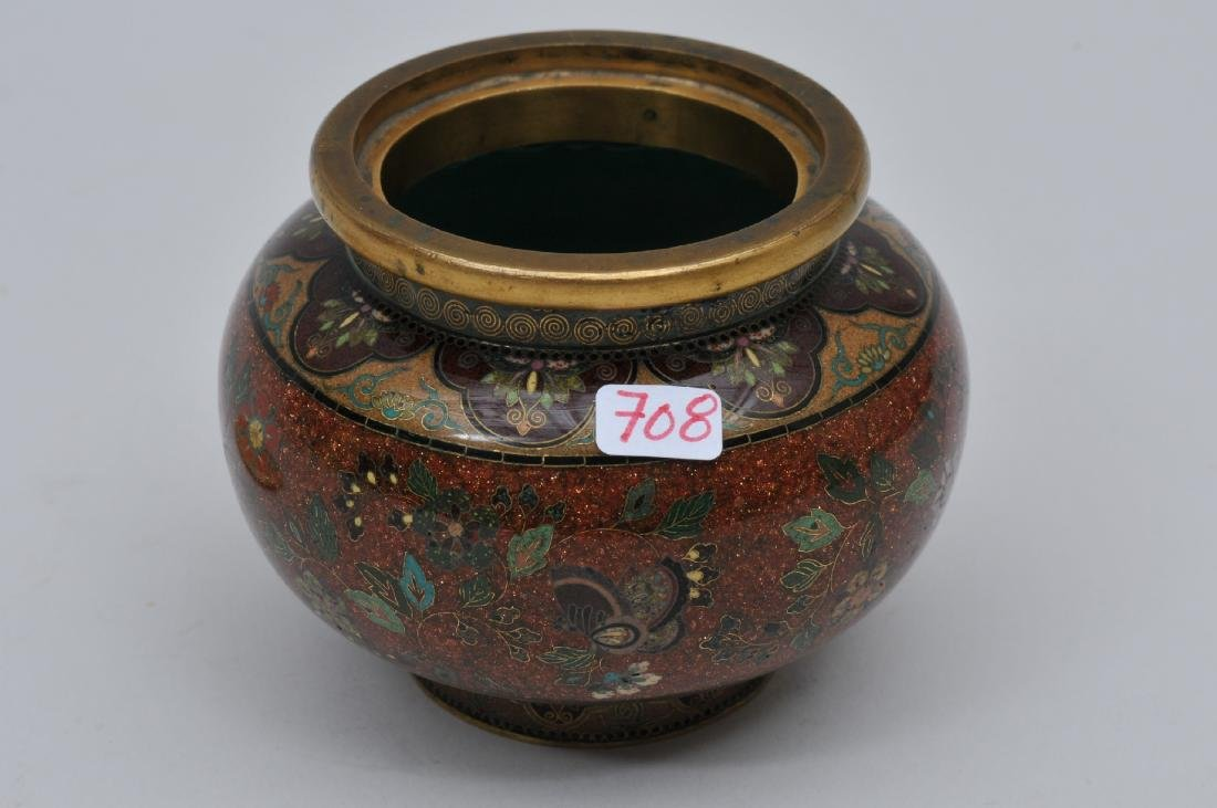 Cloisonné jar. Japan. Meiji period. (1868-1912). - 6
