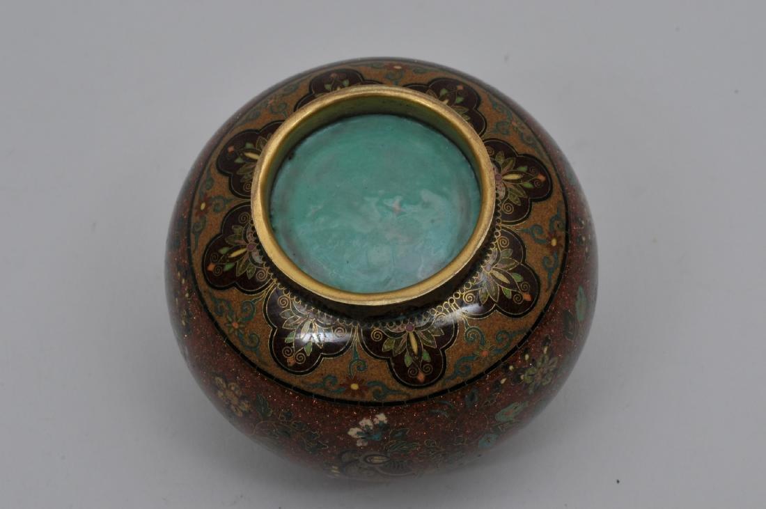 Cloisonné jar. Japan. Meiji period. (1868-1912). - 8