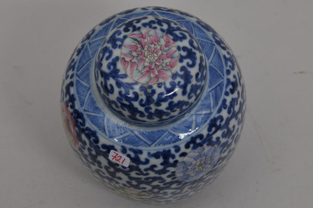 Porcelain covered jar. China. Early 20th century. - 4