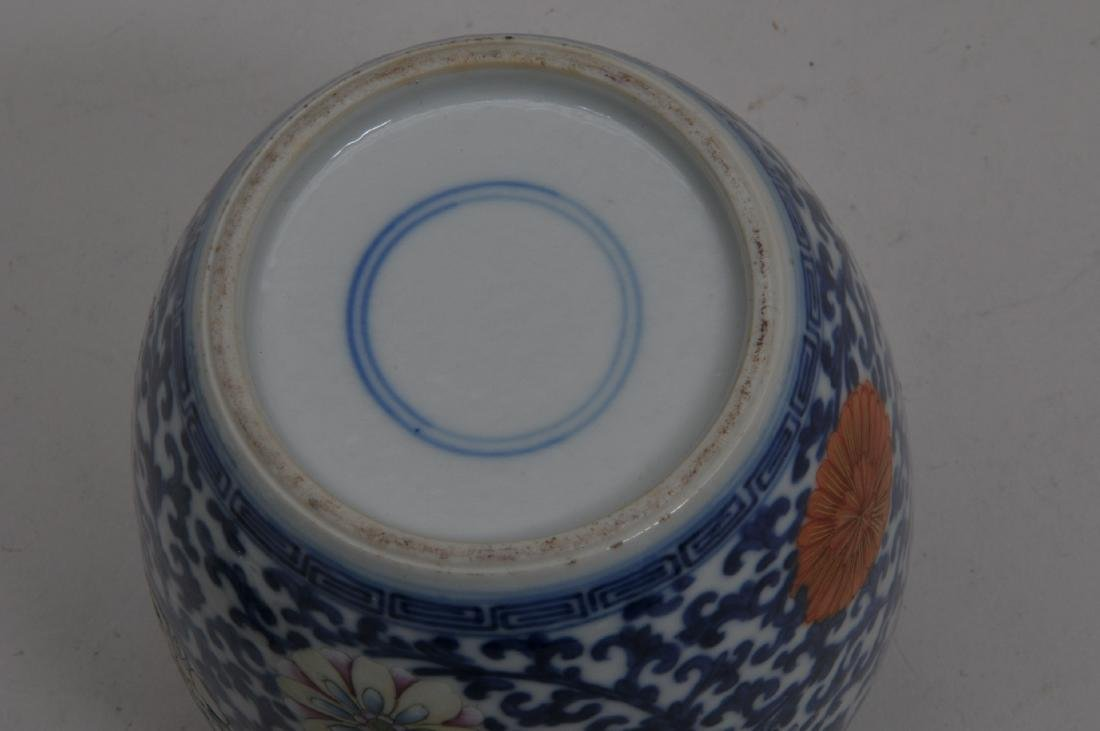 Porcelain covered jar. China. Early 20th century. - 6