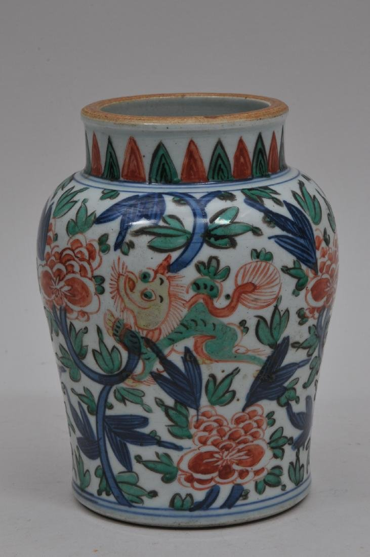 Porcelain vase. China. 18th century. Wu Tsai ware - 2