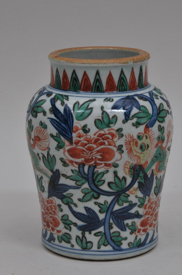 Porcelain vase. China. 18th century. Wu Tsai ware - 3