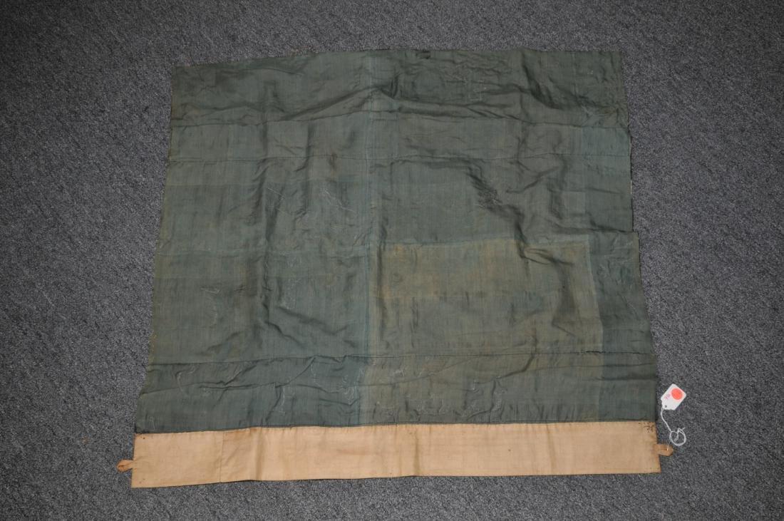 19th century embroidered silk Chinese panel. Metallic - 6