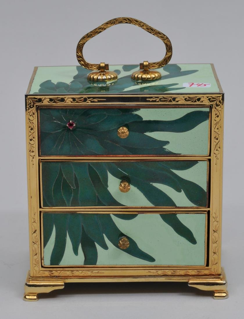 Small  Cloisonné cabinet. Japan. Second half of the