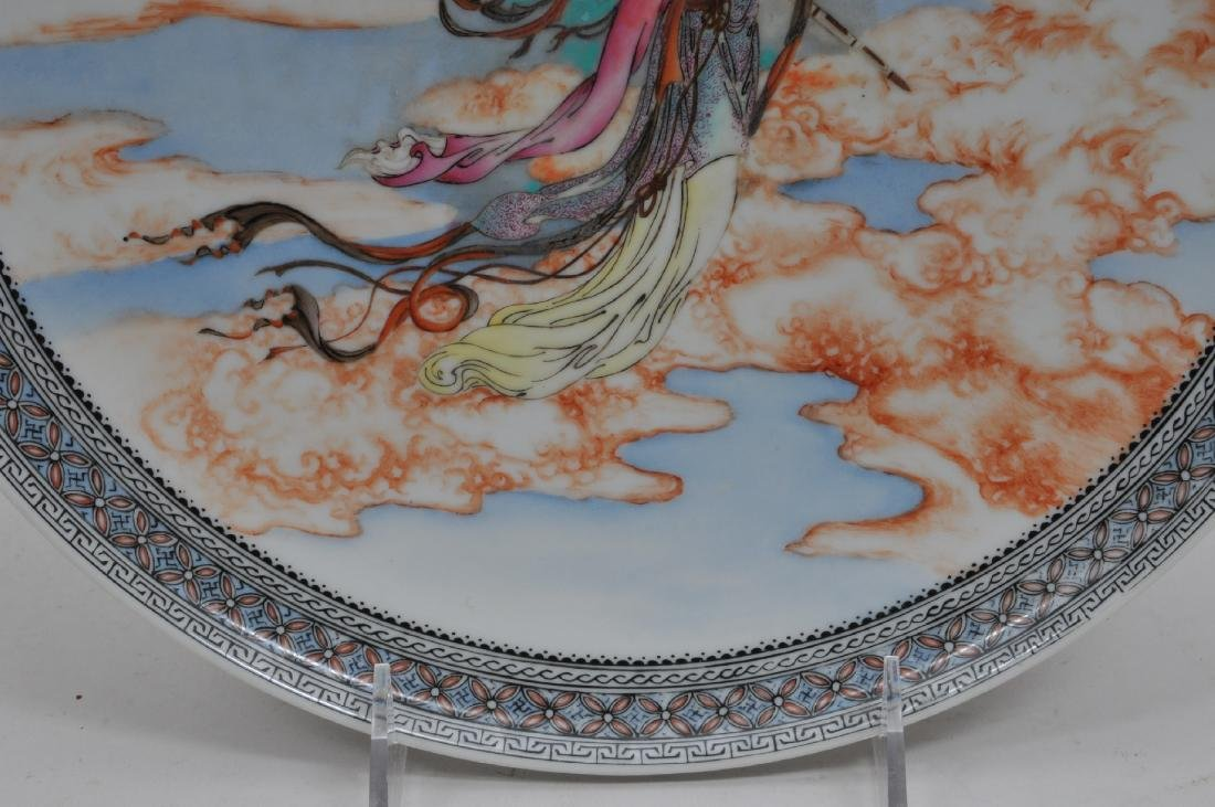 Porcelain plate. China. Mid 20th century. Famille Rose - 5