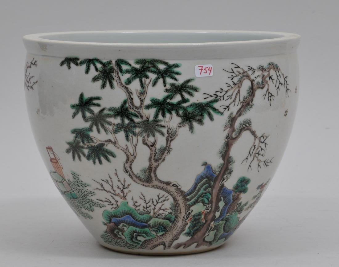 Porcelain jardinere. China. 19th century. Famille Verte