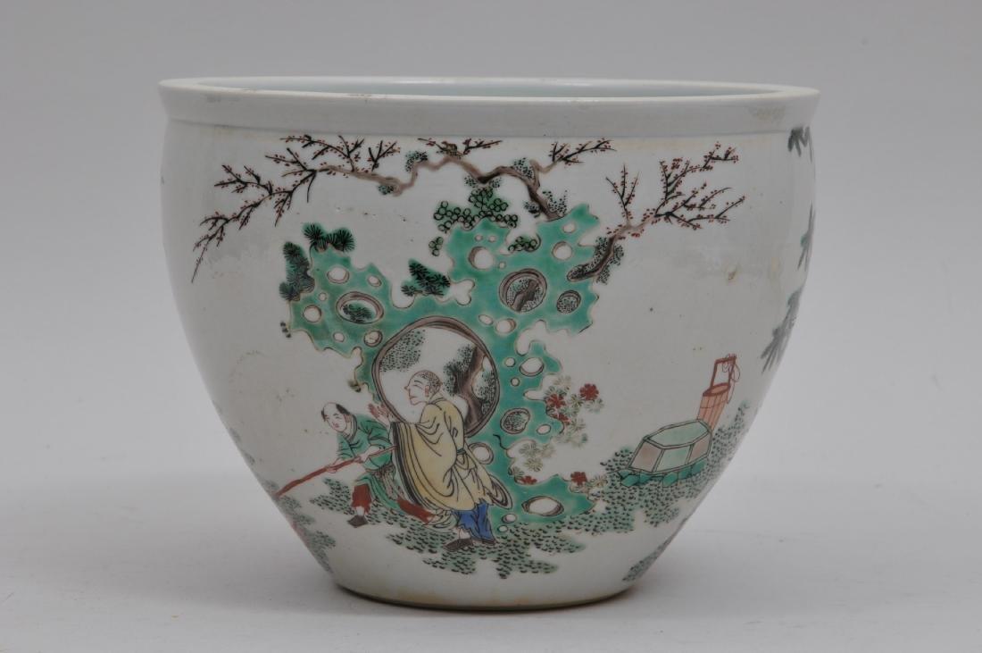 Porcelain jardinere. China. 19th century. Famille Verte - 2