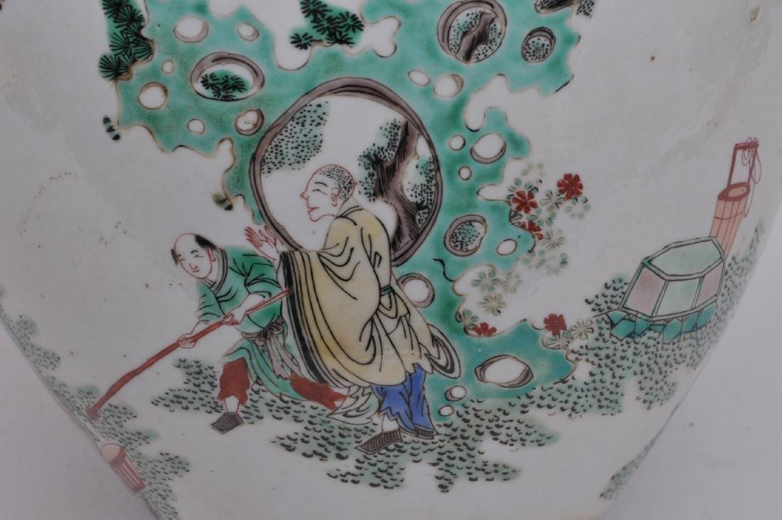 Porcelain jardinere. China. 19th century. Famille Verte - 3
