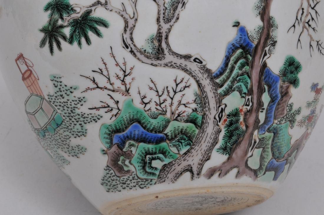 Porcelain jardinere. China. 19th century. Famille Verte - 4
