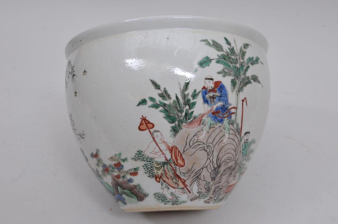 Porcelain jardinere. China. 19th century. Famille Verte - 5
