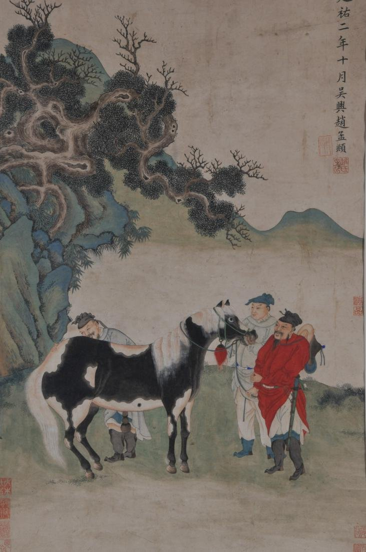 Hanging scroll. China. 18th/19th century. Ink and - 2