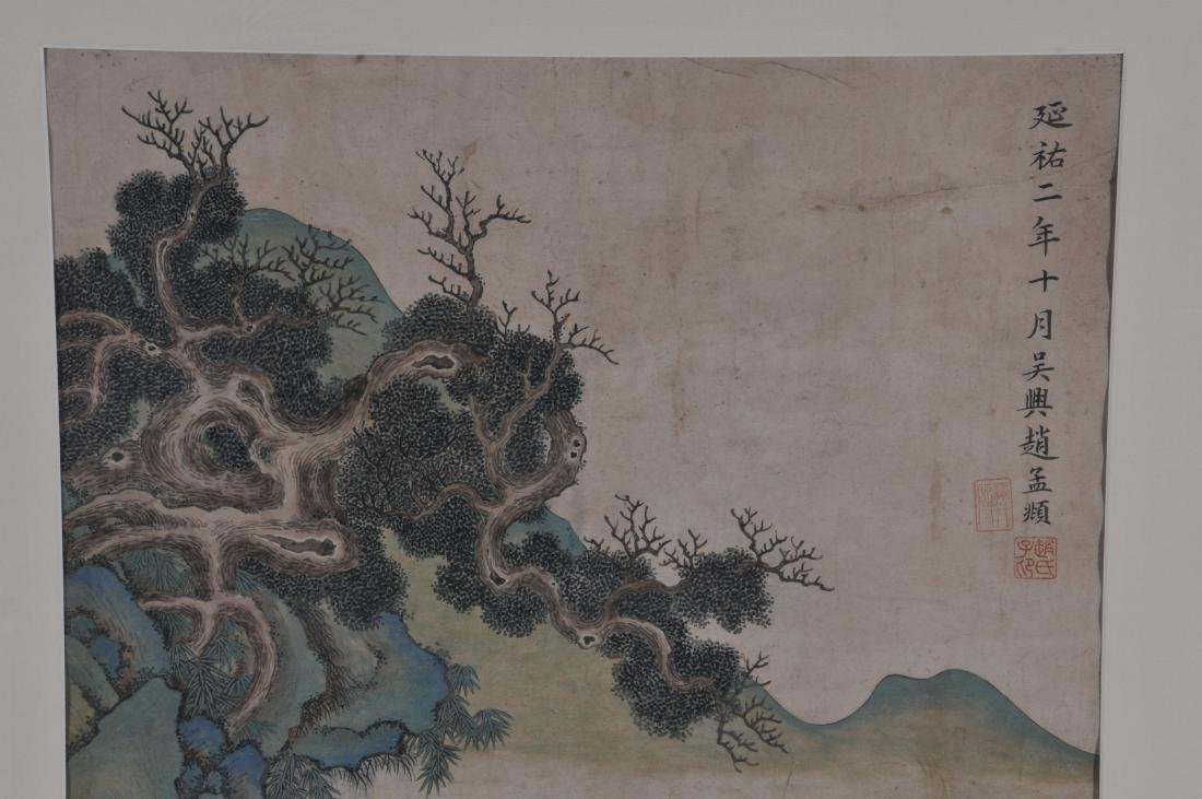 Hanging scroll. China. 18th/19th century. Ink and - 4