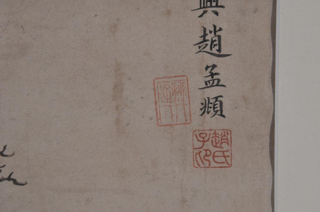 Hanging scroll. China. 18th/19th century. Ink and - 6