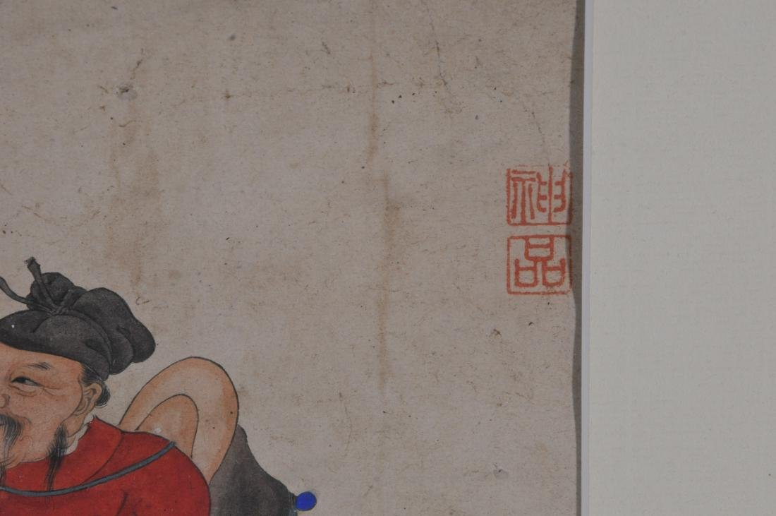Hanging scroll. China. 18th/19th century. Ink and - 7
