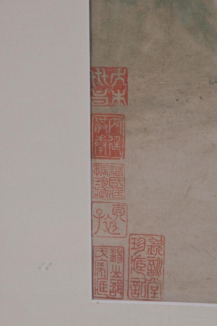 Hanging scroll. China. 18th/19th century. Ink and - 8