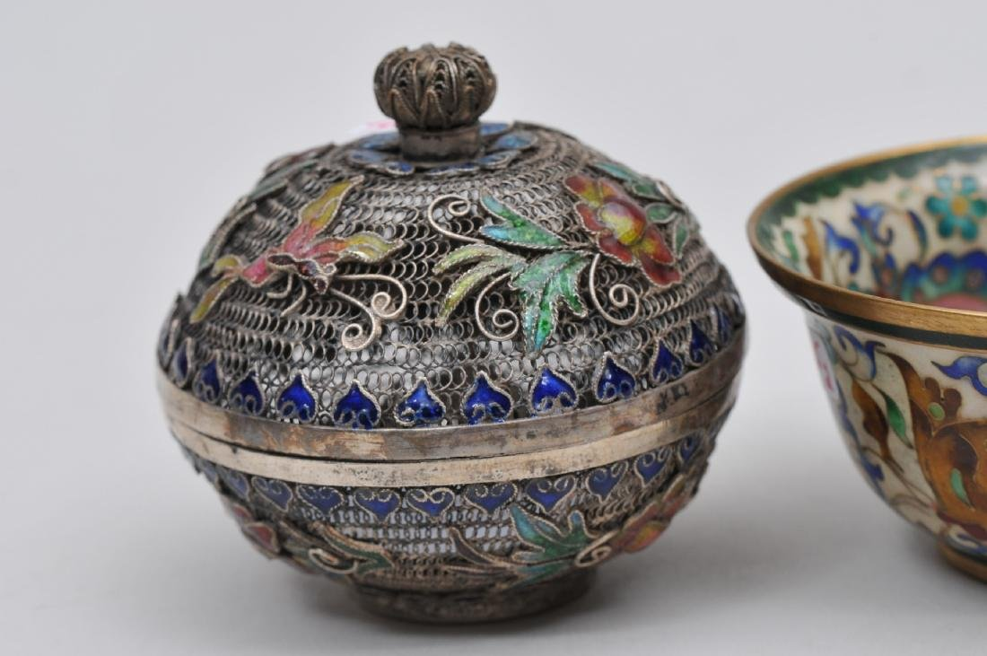 Lot of two enamel works. China. Early 20th century. To - 2