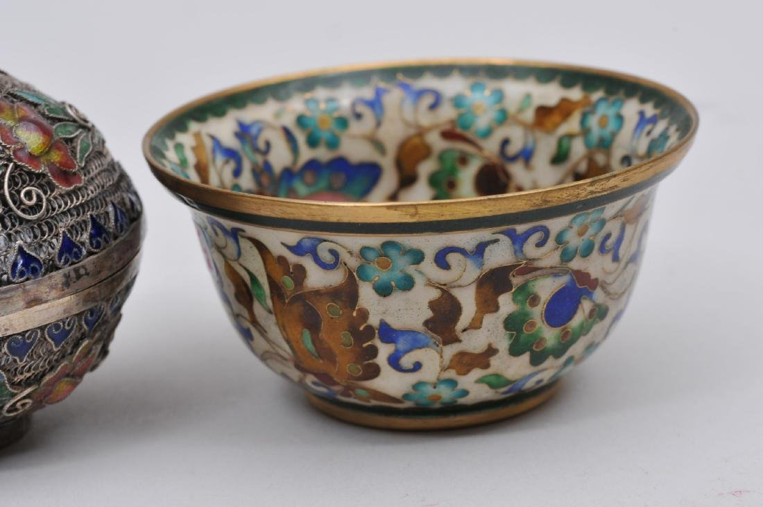 Lot of two enamel works. China. Early 20th century. To - 3