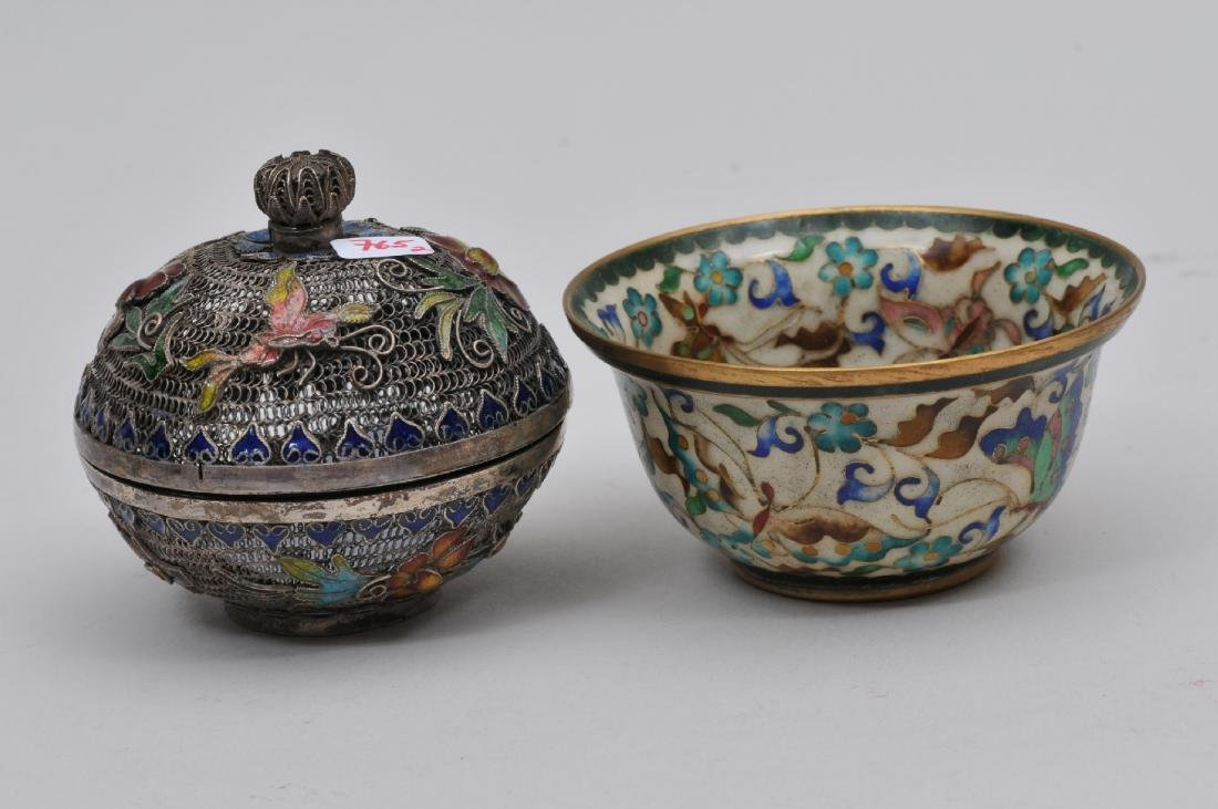 Lot of two enamel works. China. Early 20th century. To - 4