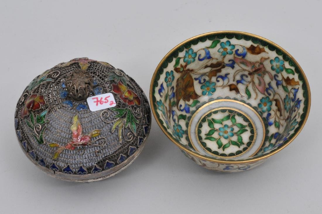 Lot of two enamel works. China. Early 20th century. To - 5