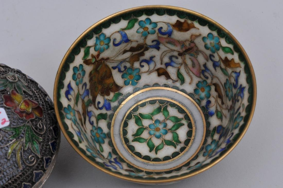 Lot of two enamel works. China. Early 20th century. To - 6