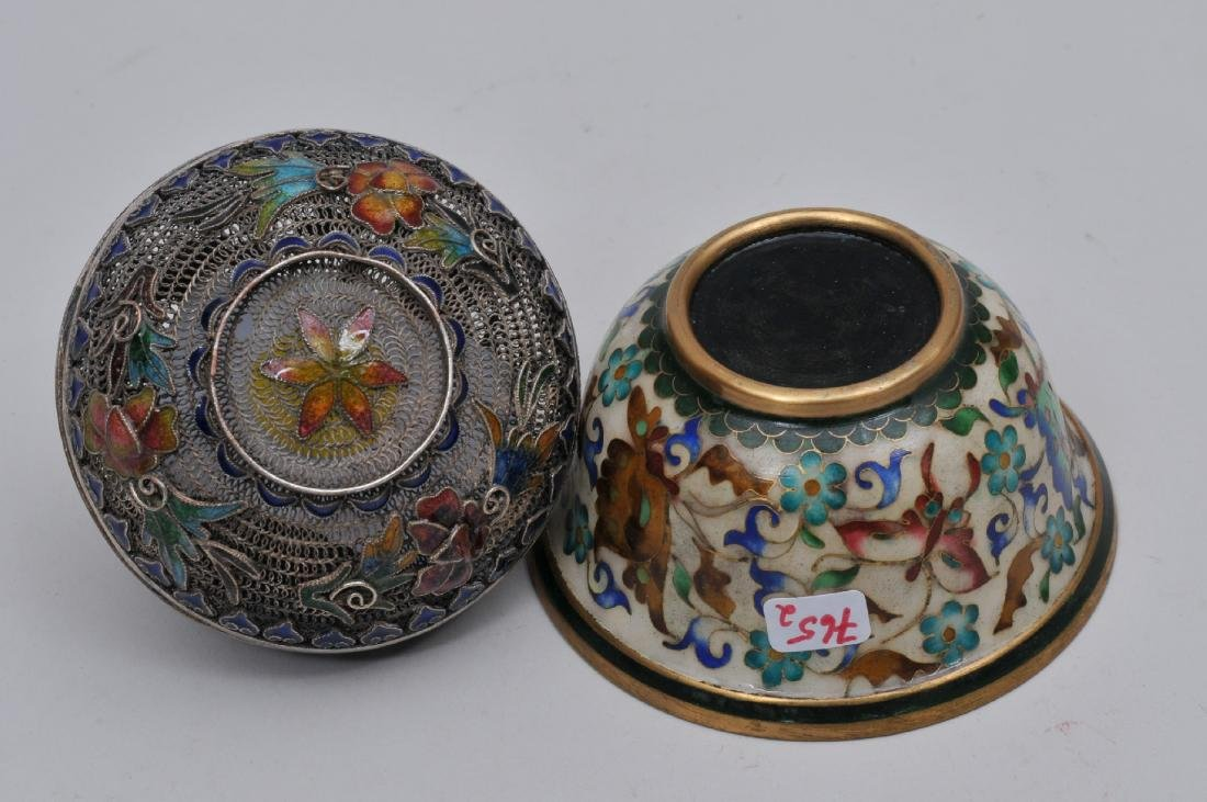 Lot of two enamel works. China. Early 20th century. To - 8