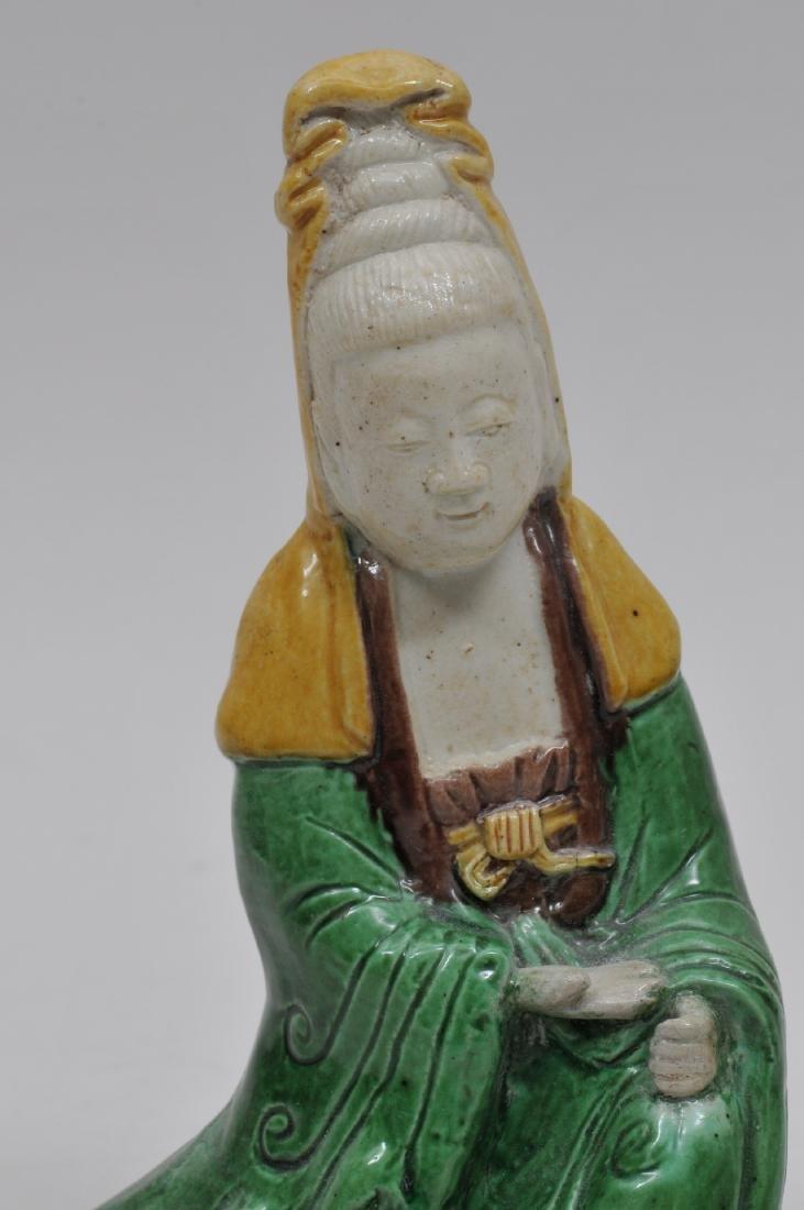 Biscuit figure of Kuan Yin. China. 18th century. San - 2