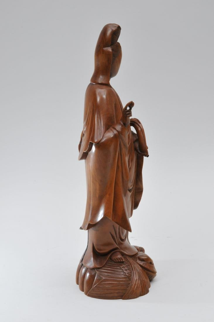 Boxwood carving. China. Late 19th century. Standing - 4