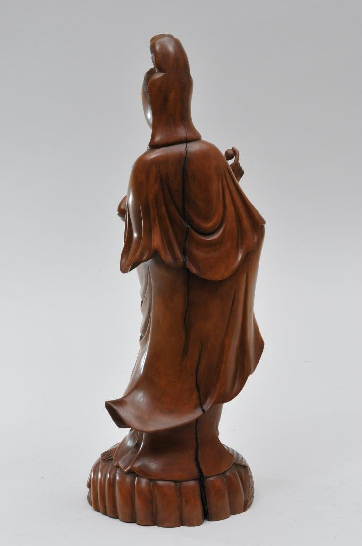 Boxwood carving. China. Late 19th century. Standing - 5