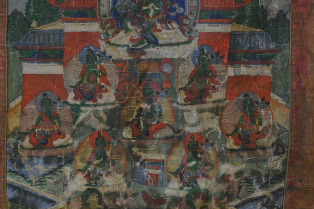 Buddhist Icon. Tibet. 19th century. Thangka of The - 10