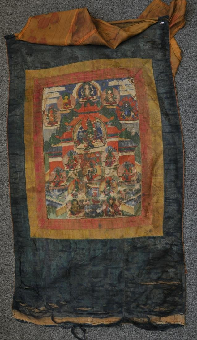Buddhist Icon. Tibet. 19th century. Thangka of The