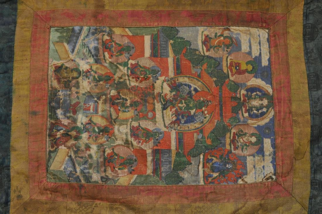 Buddhist Icon. Tibet. 19th century. Thangka of The - 2