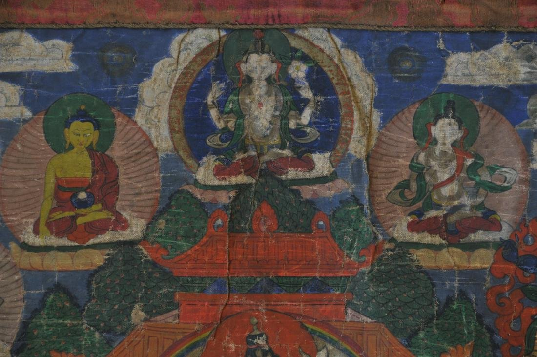 Buddhist Icon. Tibet. 19th century. Thangka of The - 5