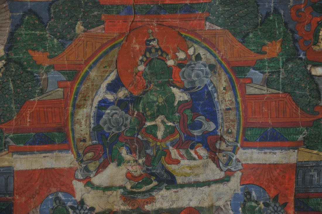 Buddhist Icon. Tibet. 19th century. Thangka of The - 6