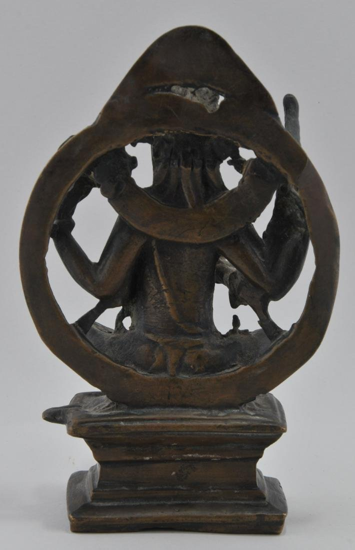Bronze of a Deity. India. 19th century or earlier. - 4