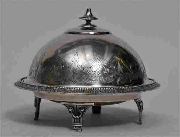 Victorian Gorham Sterling silver round dome top butter