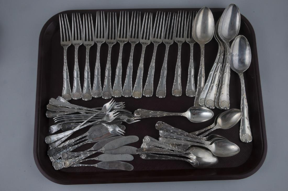 Tiffany & Co. Makers. Sterling silver 52 piece Wave
