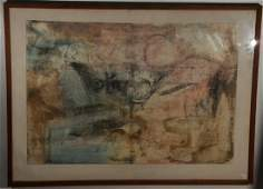 """Large Modern mixed media painting titled """"Chinese V"""""""
