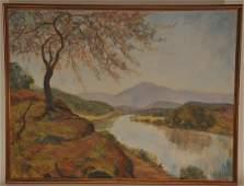 "Helen Mahood McGehee. ""On The Upper James"". Large river"