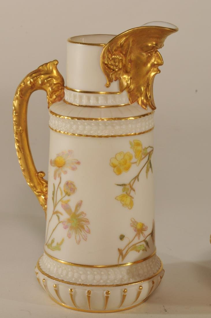Two pieces of Royal Worcester porcelain. (1)Floral - 2