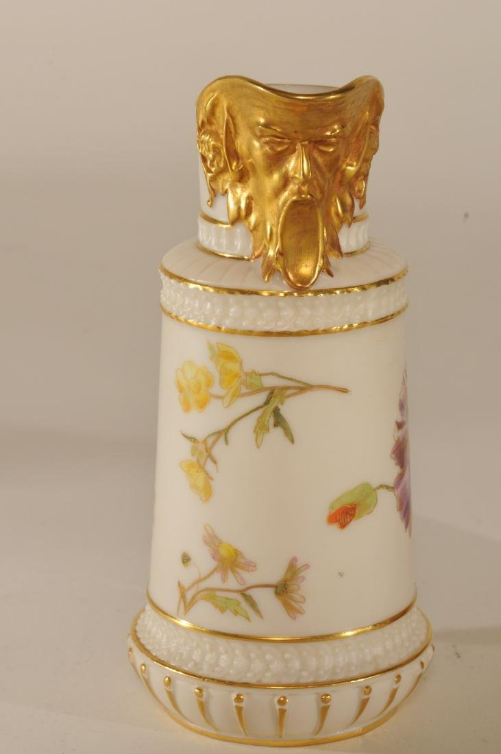 Two pieces of Royal Worcester porcelain. (1)Floral - 3