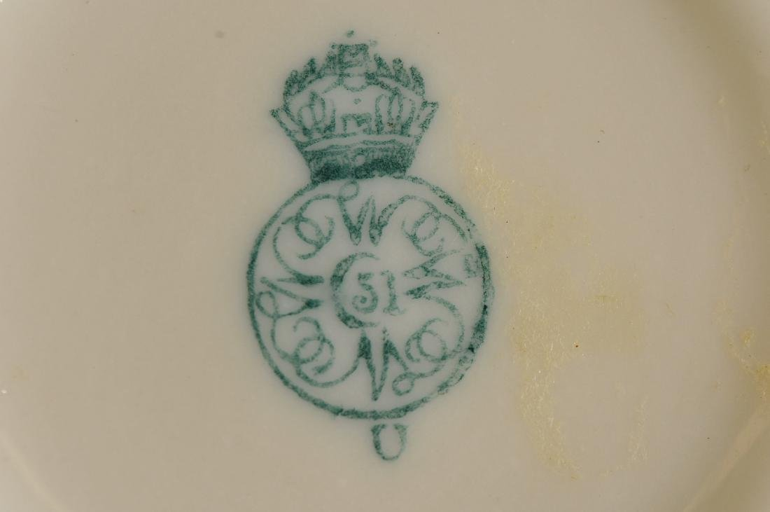 Two pieces of Royal Worcester high gloss porcelain. (1) - 6