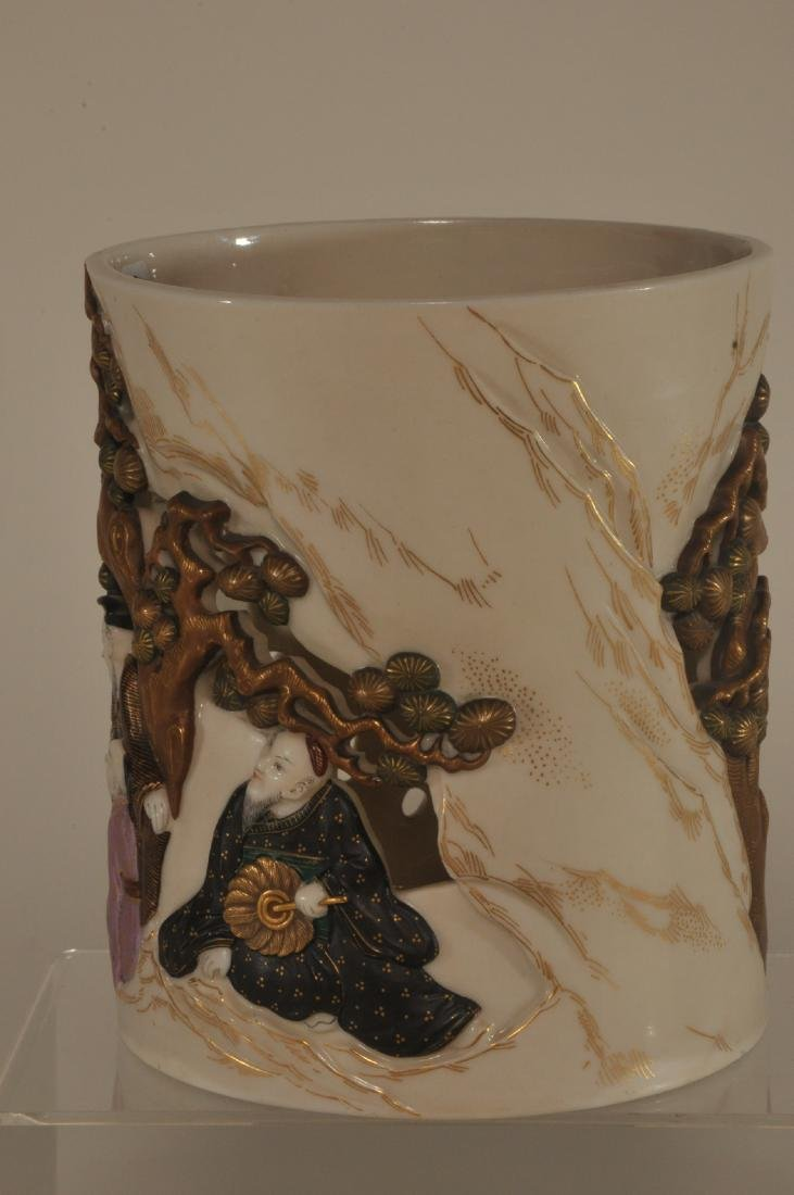 Royal Worcester reticulated Chinese figural decorated - 4