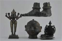 Lot of six bronzes. India. 19th century and earlier. To