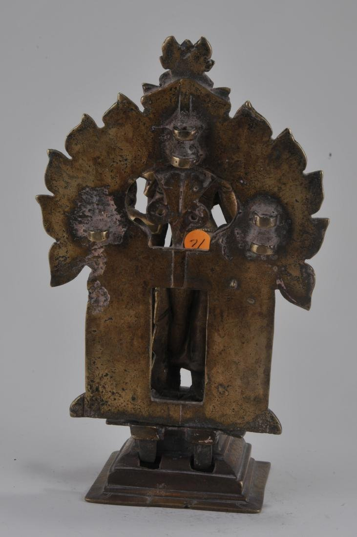 Bronze image. India. 15th century. Enthroned image of - 6
