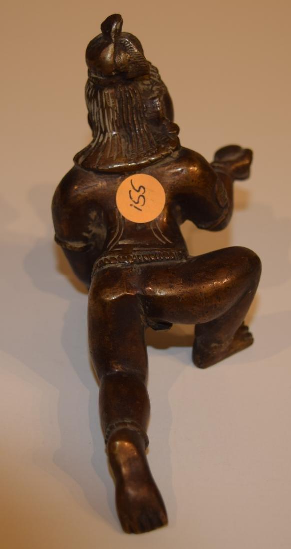 "Bronze image of Balarama. India. 19th century. 5"" long. - 3"