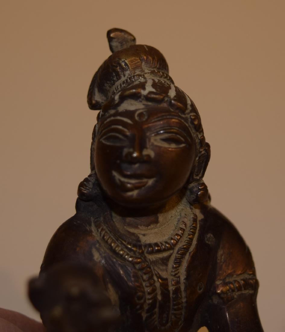 "Bronze image of Balarama. India. 19th century. 5"" long. - 5"